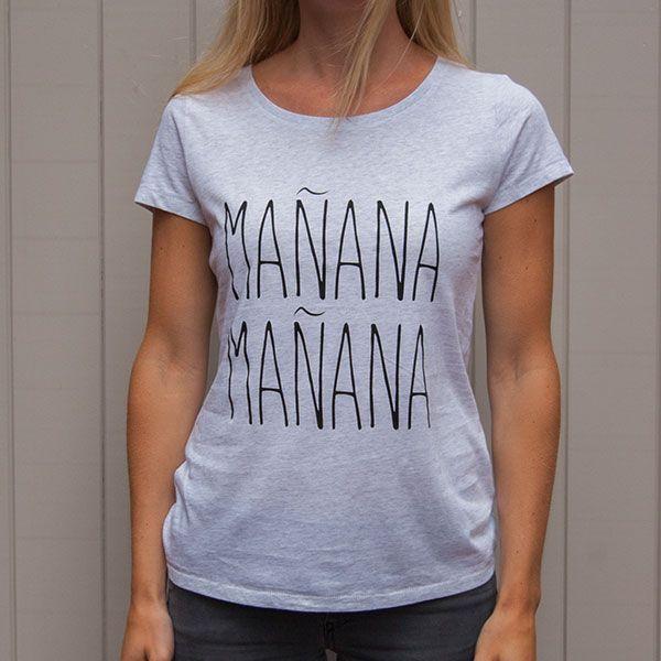Organic Tshirt Manana Manana Grey