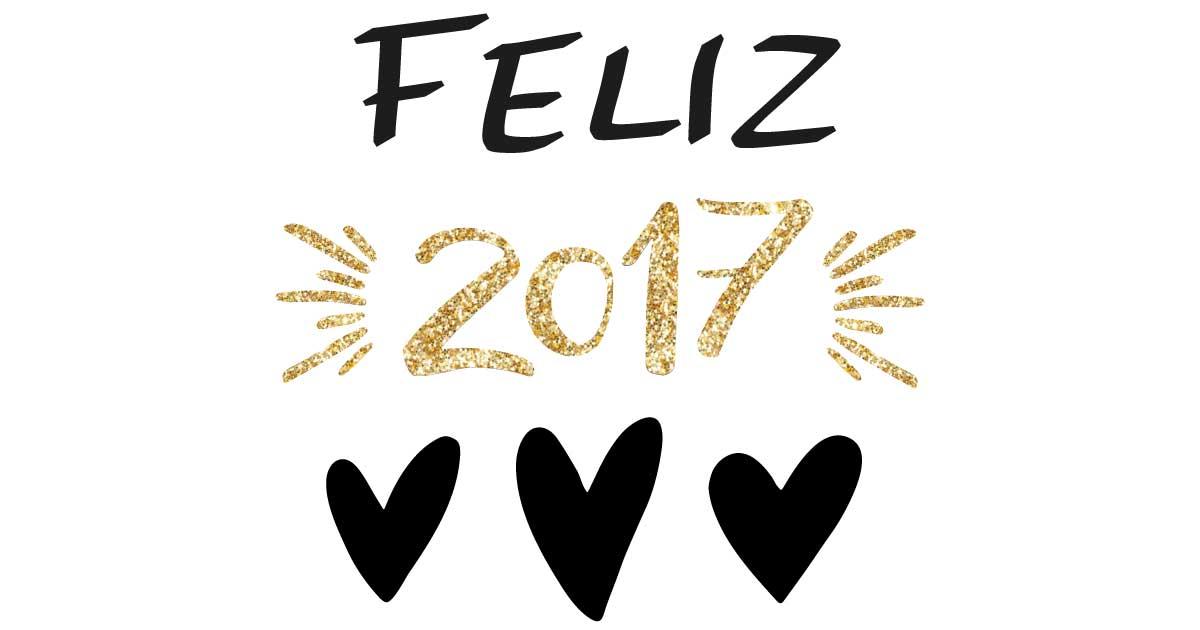 Feliz 2017 heart