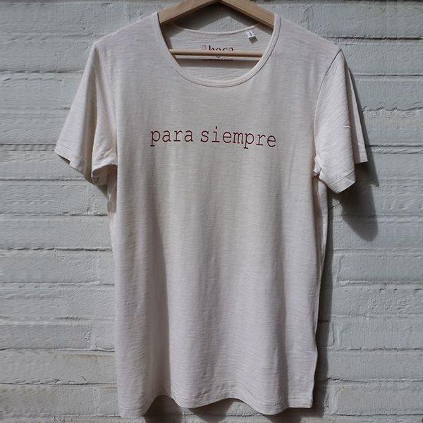 Para siempre organic cotton unisex shirt