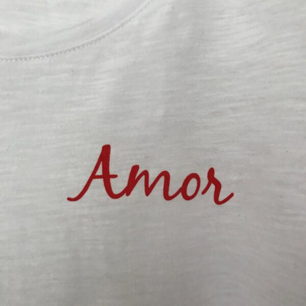 Amor details organic t-shirt white