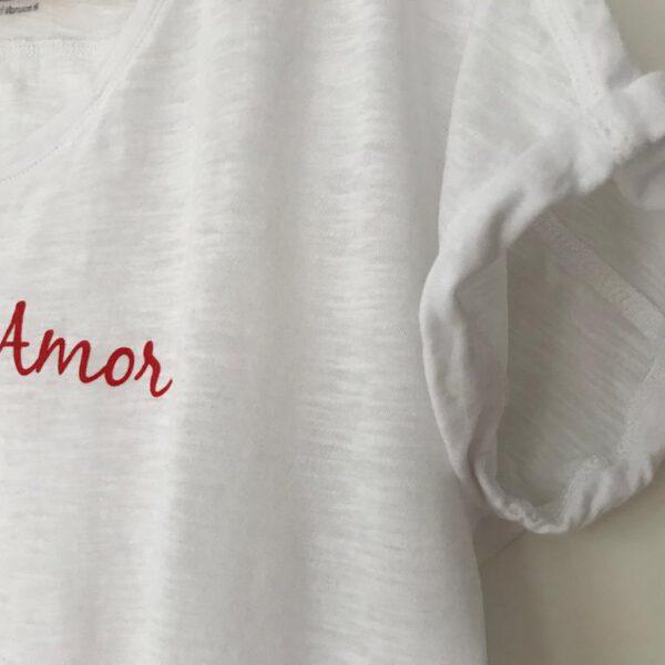 Amor details shirt white