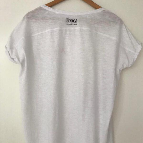Amor organic t-shirt white back