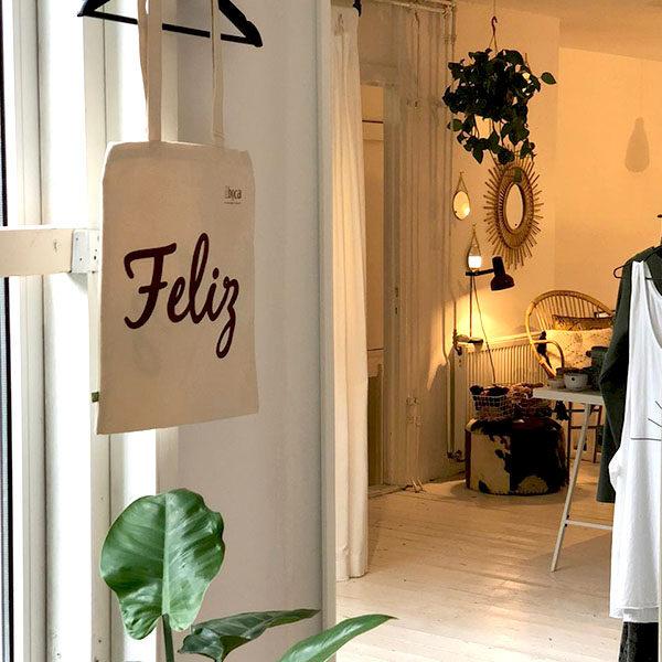 Verantwoorde shopper, biologisch katoenen tas Feliz