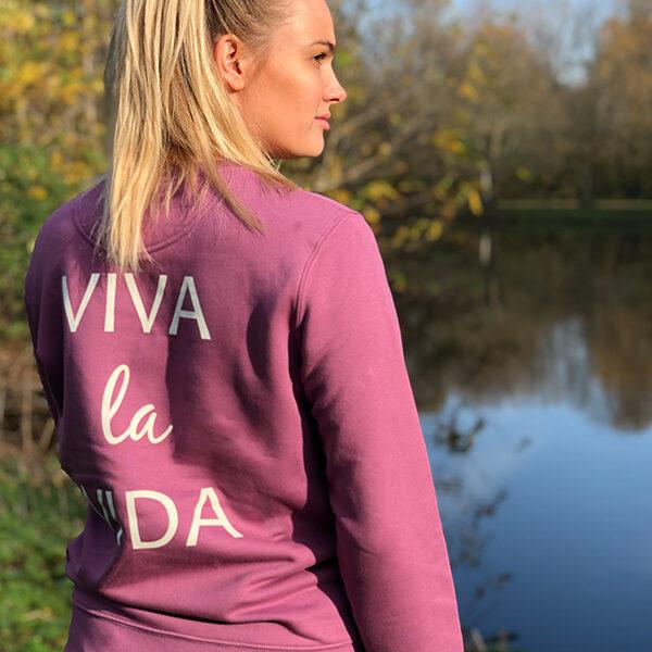Verantwoord shoppen, biologisch katoenen trui Viva la vida
