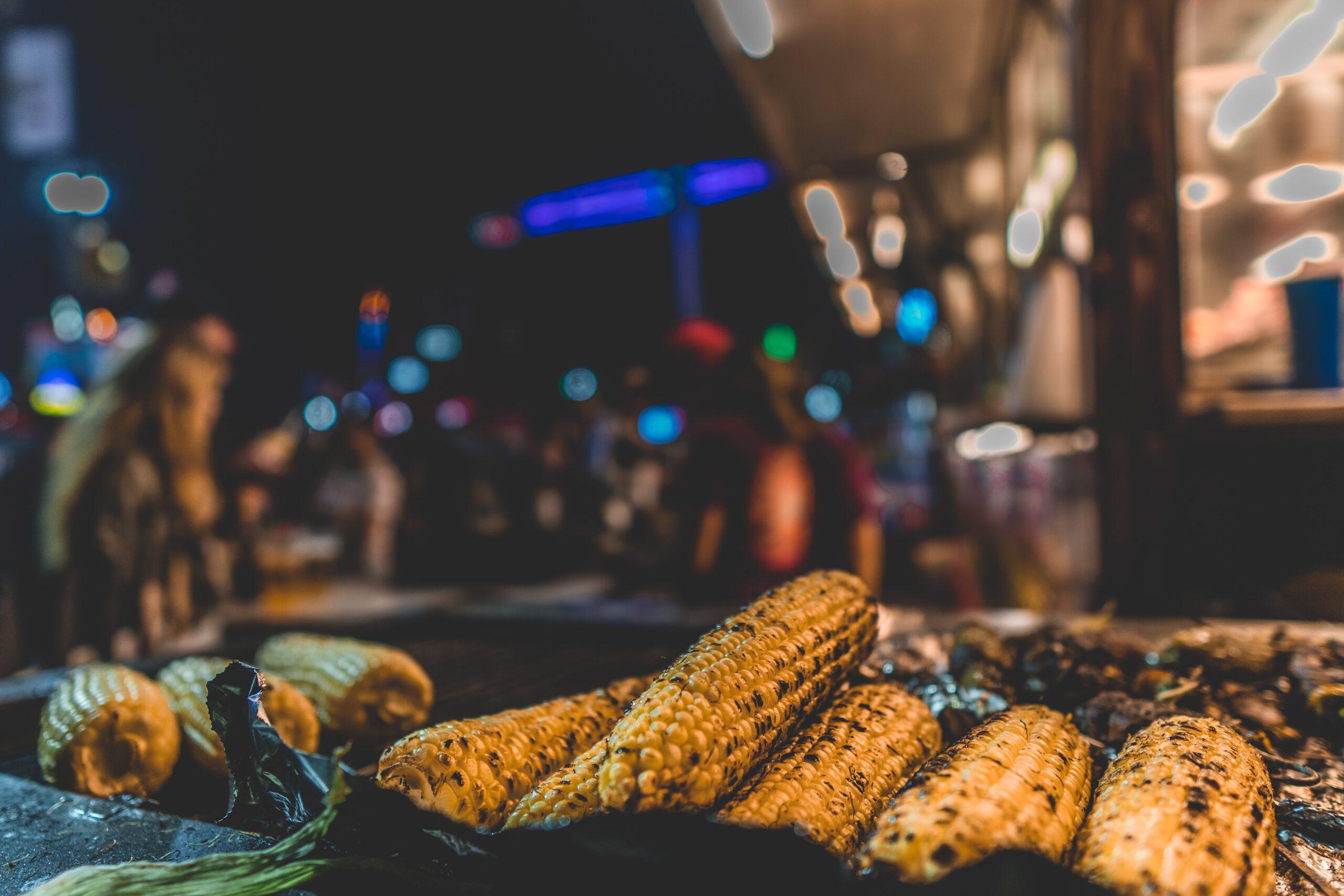 corn on barbecue